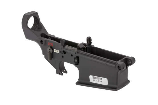 The Lewis Machine and Tool MARS-H stripped lower receiver comes with fully ambidextrous controls