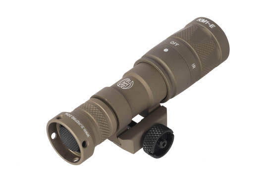 SureFire M300V IR scout light uses a simple push button clickable tail cap activation of user selected IR or white light