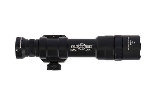 SureFire dual fuel M600DF black Scout Light accepts CR123A and 18650 rechargeable batteries
