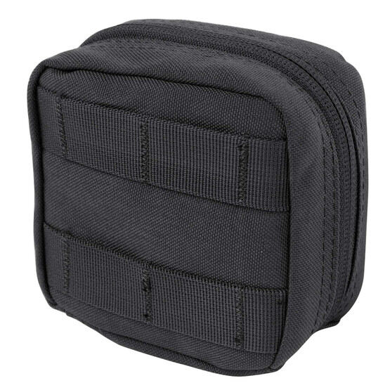 Condor 4 x 4 Utility Pouch in Black features nylon construction