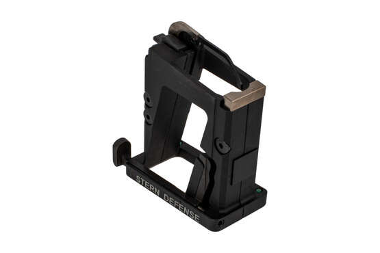 The Stern Defense MAG-ADMP45 AR15 magazine conversion kit features a last round bolt hold open function