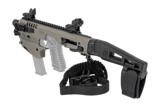 Command Arms Advanced MCK with a stabilizer, ambidextrous controls, and improves accuracy out to 200 yards now in gray