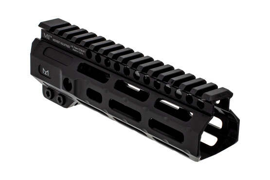 "Midwest Industries 7"" combat M-LOK AR15 rail with black anodized finish"