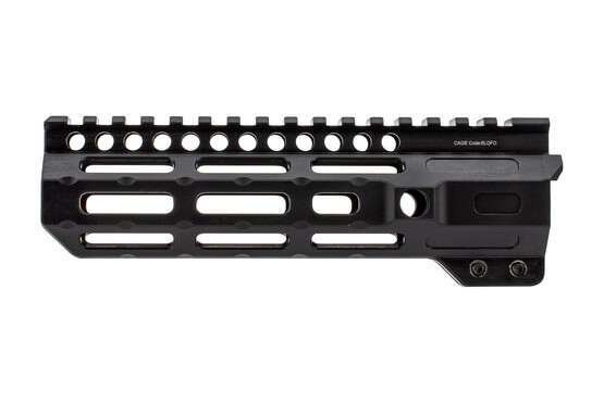 "Midwest Industries AR 15 M-LOK 7"" Combat Rail with black anodized finish is free float with full length top rail"