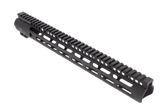 Midwest Industries 15in Slim Line free float AR-15 handguard features a tough anodized finish and accepts M-LOK accessories