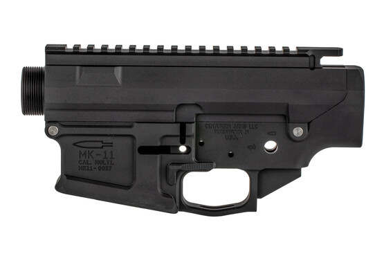 The Centurion Arms MK11 308 receiver set features an integrated trigger guard and flared magwell