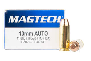 Magtech 10mm auto features a full metal jacket bullet