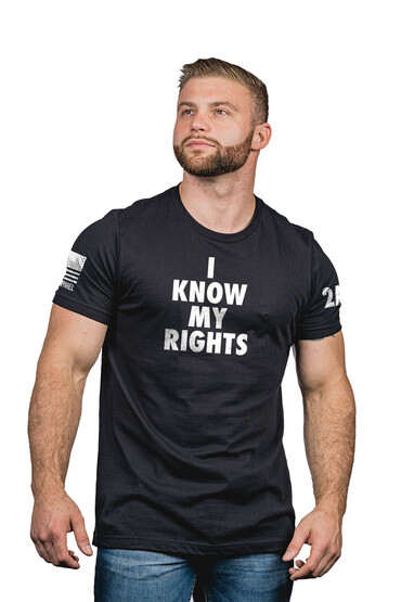 Nine Line My Rights Short Sleeve T-Shirt in Black