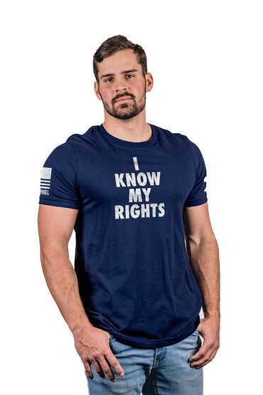 Nine Line My Rights Short Sleeve T-Shirt in Navy