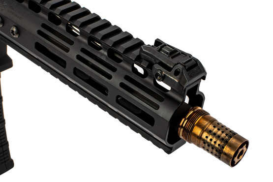 Noveske Gen 4 N4 SBR short barrel rifle features the Q cherry bomb muzzle brake
