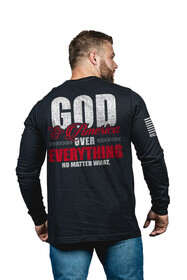Nine Line God and America Over Everything Long Sleeve T-Shirt in Black