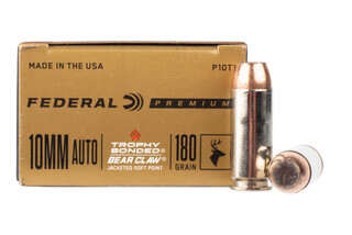 Federal Premium Vital Shok 10mm auto is loaded with a soft point bullet