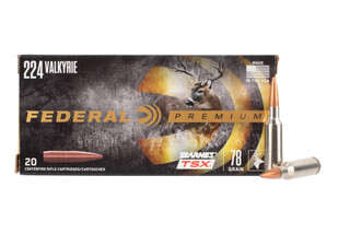 Federal Premium 224 valkyrie ammo features the barnes tsx bullet