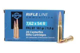 PPU 762x54r ammo is loaded with a fmj bullet
