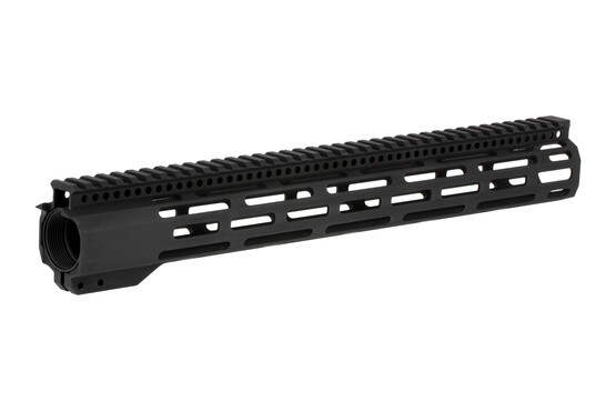 Radical Firearms 15 in FCR M-LOK rail with 3rd gen mounting system with anti-rotation tabs and a 4140 steel barrel nut