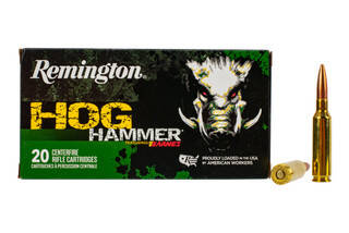 Remington Hog Hammer 6.5 Creedmoor ammo features a 120 grain TSX hollow point bullet