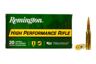 Remington High Performance 6.5 Creedmoor boat tail hollow point ammunition features a 140 grain bullet