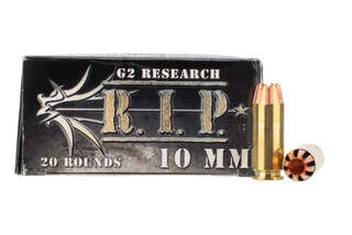 G2 Research RIP 10mm 115gr Hollow Point Ammo has brass casing