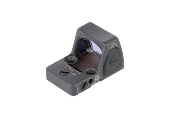 Trijicon sniper grey 3.25 MOA adjustable RMR Type 2 reflex sight features repeatable 1 MOA click adjustments