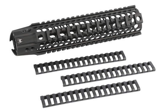 The BAR2 Quadrail handguard comes with rail covers