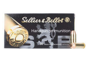 Sellier and Bellot 9mm flat nose ammo comes in a box of 50