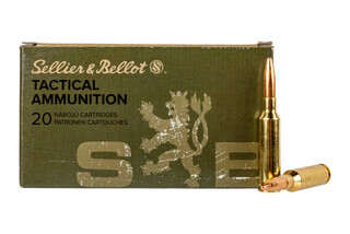 Sellier & Bellot 6.5 Creedmoor 140 grain full metal jacket ammo for target and training in 20-round boxes.
