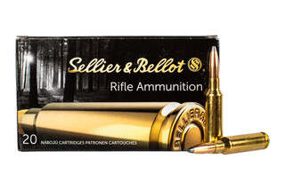 Sellier & Bellot 6.5 Creedmoor 131 grain soft point ammo for target and training in 20-round boxes.