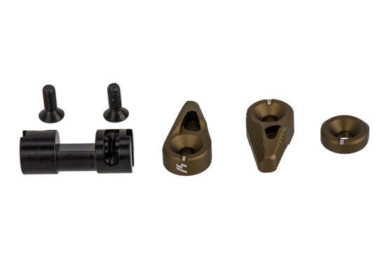 Strike Industries Flip Switch AR-15 safety selector features a flat dark earth anodized finish