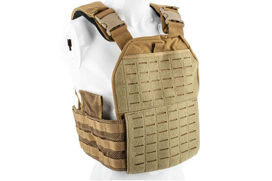 Strike Industries CORE plate carrier in flat dark earth