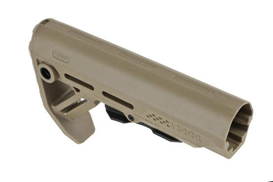 The Strike Industries Mod 1 Stock features a flat dark earth and black styling