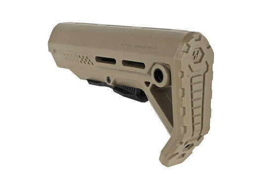 The Strike Industries Mod1 Stock features quick detach sling swivel sockets