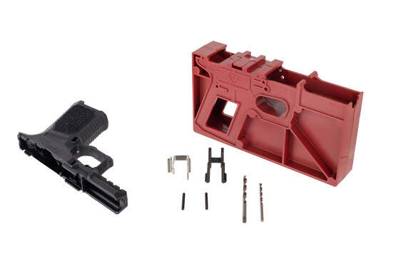 Strike80 compact pistol frame kit comes in black with all the required tools