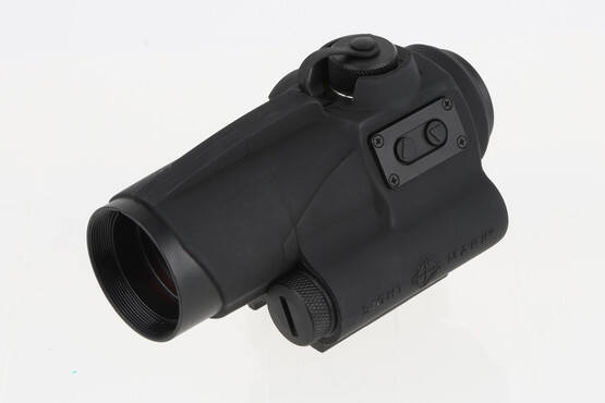 The Sightmark red dot optics is powered by a single AA battery for up to 50,000 hours