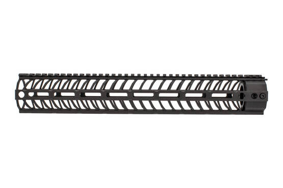 The Spikes Tactical .308 handguard 15 features a hardcoat anodized black finish