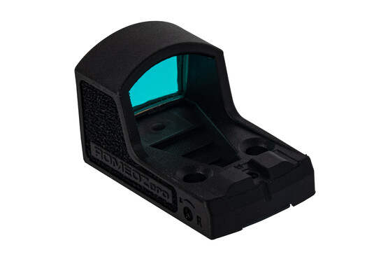 SIG Sauer ROMEO Zero Mini red dot sight features an integrated rear back up sight