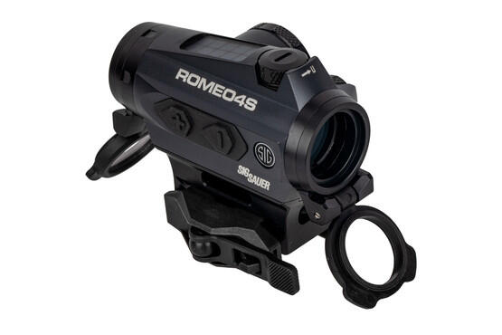 SIG Romeo4S red dot sight features lens covers and a picatinny mount