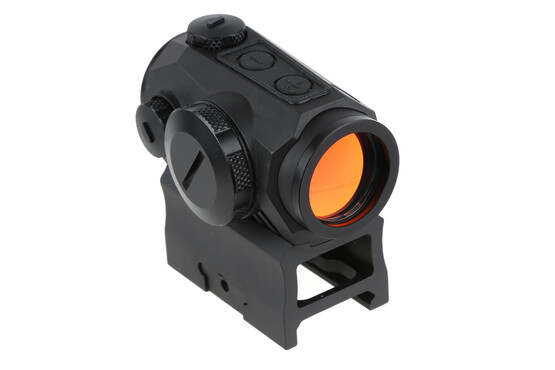 The Sig Sauer Romeo5 red dot sight features 1x magnification and a 2mm objective
