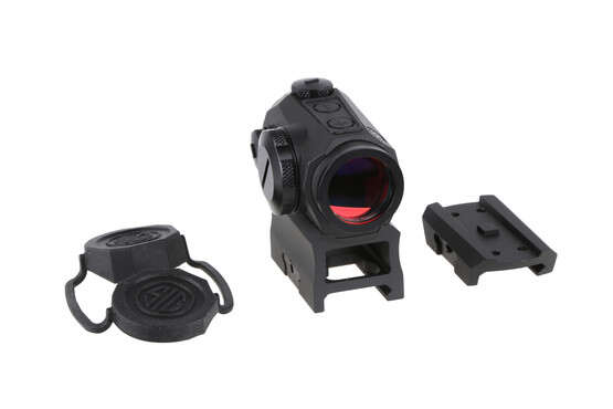 The Sig Romeo5 2 moa red dot comes with two mounts and rubber lens covers