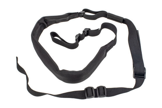 Troy Industries 2 point padded sling is made from black nylon webbing