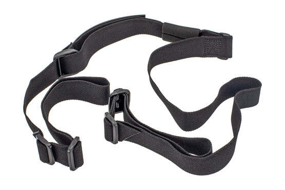 Troy Industries 2 point rifle sling is made from black Nylon webbing