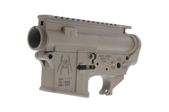 The Spike's Tactical AR15 stripped lower and upper receiver set is compatible with Mil-Spec parts