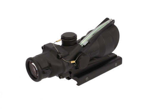 The Trijicon ACOG rifle scope with illuminated ACSS Aurora reticle is designed for 5.56, 5.45, and .308 caliber