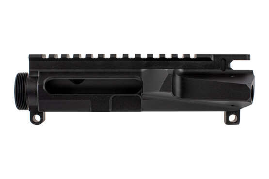 The Cross Machine Tool left handed AR15 stripped upper receiver features a flat top picatinny rail