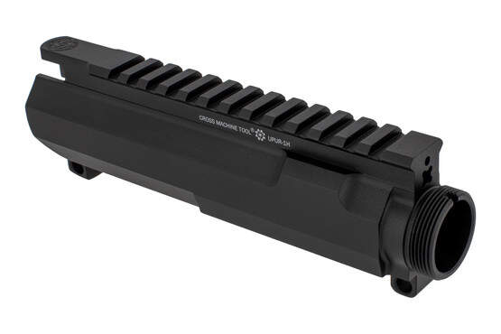 The CMT UPUR-1LH stripped AR15 upper receiver left hand features M4 feed ramps