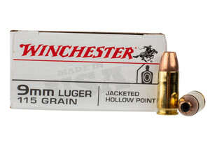 Winchester 9mm hollow point ammo comes in a box of 50