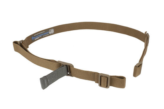 Blue Force Gear Vickers 2-Point combat sling with acetal hardware and Coyote 1.25in sling