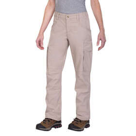 Vertx Fusion Stretch Tactical Women's Pant in khaki from front