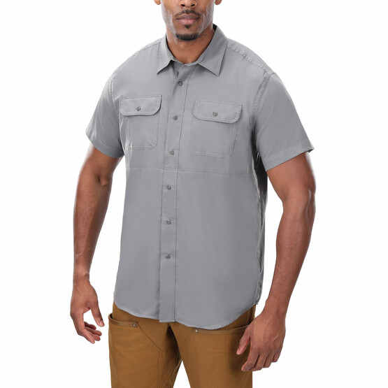 Vertx Short Sleeve Guardian Shirt in grey from front
