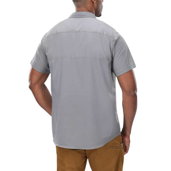 Vertx Short Sleeve Guardian Shirt in grey from the back