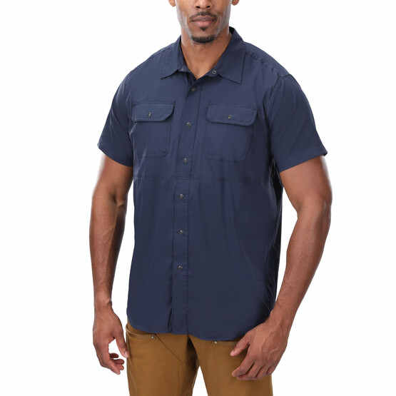 Vertx Short Sleeve Guardian Shirt in Navy from the front
